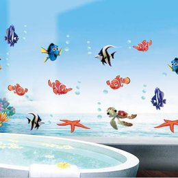 $enCountryForm.capitalKeyWord Canada - The undersea world cartoon bubble fish wall stickers Children bedroom living room bathroom background wall stickers