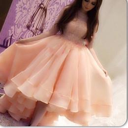 $enCountryForm.capitalKeyWord Canada - Custom made Arabian Design Evening Dresses Pink Jewel Beaded Short Front Long Back Prom Evening Gowns