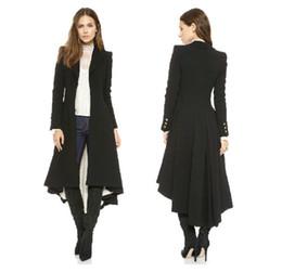Wholesale women tuxedo slim for sale - Group buy Autumn Winter Brand Wraceful Woolen Overcoat Women fashion long black trench british style tuxedo manteau femme coats