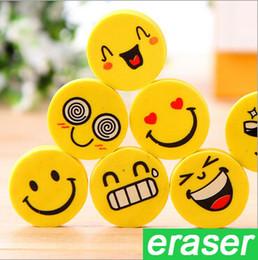 $enCountryForm.capitalKeyWord Canada - Cute Smiling Face Eraser Cartoon Emoji Eraser Rubber for Pencil Students Kids Funny Cute Stationery Office Accessories School Supplies