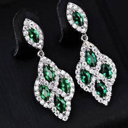 Emerald Green Chandelier Earrings Online | Emerald Green ...
