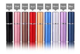 Vente en gros 9 couleurs 6 ml Mini Portable Parfum Rechargeable Atomiseur Coloré Spray Bouteille Vide Bouteilles De Parfum Huiles Essentielles Diffuseurs Maison Fragrances