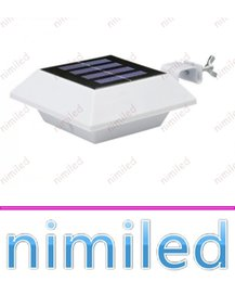 China nimi1042 4 LED IP44 Polysilicon Solar Power Panel Lights Outdoor Fence Patio Garden Light Super Bright LED Home Wall Lighting Roof Sink Lamp cheap panel fencing suppliers