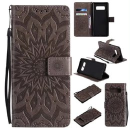 $enCountryForm.capitalKeyWord Canada - 3D Sunflower Leather Cases For Samsung Galaxy Note 8 Case Wallet Flip Cover Casing GalaxyNote 8 Stand Case