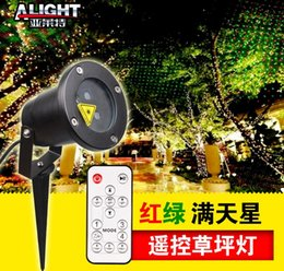 outdoor christmas star light projector NZ - laser outdoor lights Dynamic remote control Laser Firefly Stage Lights Landscape Red Green Projector Christmas Garden Sky Star Lawn Lamps