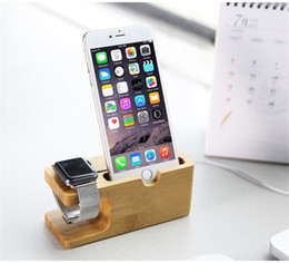 $enCountryForm.capitalKeyWord Canada - Free DHL 2015 Newest Charging Platform for Apple Watch Stand Station for Apple Watch For iPhone Bamboo Wood cell Phone Holder Stand