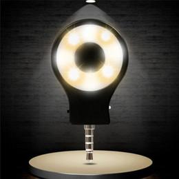 Cellphone Selfie Canada - Wholesale-Free Shipping 2016 New Arrival 3.5mm LED Lamp External Flash Fill Light Adjustable Light Selfie for Cellphone