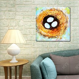 Hand Cartoon Canada - Cartoon birds nest picture abstract cartoon picture oil painting by hand painted copy reproduction living room wall decor