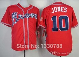mlb jersey 2015 new 10 chipper jones jersey red alternate atlanta braves 2015 100 stitched authentic cheap