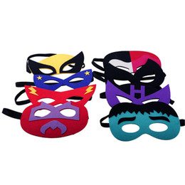 masquerade costumes for kids NZ - Christmas Halloween Mask Superman Spider Man Iron Man Batman simple Masker for kids Child Role Cosplay Game Masquerade Masque Costume Ball