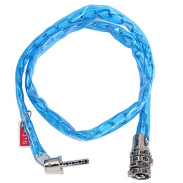 Chinese  Wholesale-Outdoor Sports 4 digit Combination Password Bike Lock Bicycle Scooter Guard Security Steel Cable Lock Cycling 65cm manufacturers