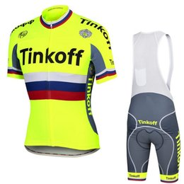 f50ddf1fb UCI World tour champion team tinkoff saxo peter yellow cycling jersey  summer Quick-Dry Racing Bicycle ropa ciclismo cycling clothing GEL pad