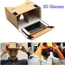Iphone Virtual 3d Glasses NZ - Google Cardboard 3d Glasses Virtual Reality Glasses Vr Box DIY Google Cardboard Glass For Iphone Huawei 6 Sony Xperia Z