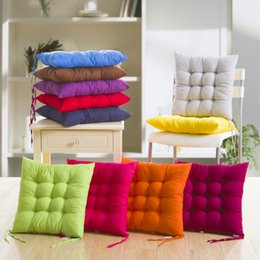 Tatami Chairs Canada - Soft Cushion Home Office Sofa Chair Tatami Cushions Binding Strap Design Solid Color Pillow In Autumn And Winter 4pj F R
