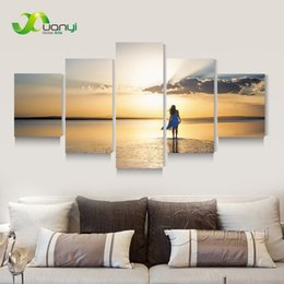 $enCountryForm.capitalKeyWord Canada - 5 Panel Seascape Sunset Canvas Painting Sexy Beauty Canvas Art Home Wall Picture For Living Room Modern Printing Unframed PR1271