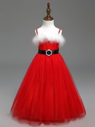 $enCountryForm.capitalKeyWord Canada - New Red Xmas Dress Kids Girls Christmas Santa Claus Braces Tulle Tutu Dress Costume Wedding Party Pageant Formal Princess 2-8Y