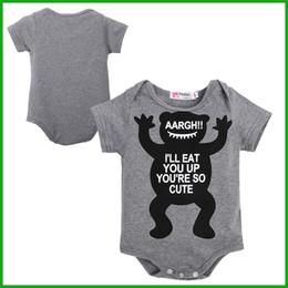 $enCountryForm.capitalKeyWord NZ - 2016 Unisex Children clothing set Baby girl baby cotton short sleeve toddler jumpsuit infant bodysuit letters cartoon animal print outfits