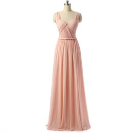 $enCountryForm.capitalKeyWord UK - Cheap Simple On Sale Vestido De Festa Chiffon V-Neck Evening Dresses Pleats High Quality Celebrity Party Dresses Vestido Longo
