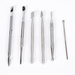 Chinese  Wax dabber tool wax atomizer stainless steel dab tool titanium nail dabber tool dry herb vaporizer pen dabber Skillet glass globe tank manufacturers