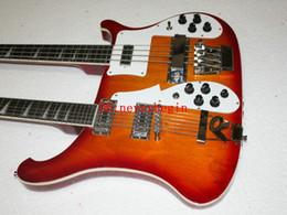 $enCountryForm.capitalKeyWord Canada - New Double neck bass guitar 4 string bass and 12 string guitar cs sunburst Electric Guitar OEM Available A12345