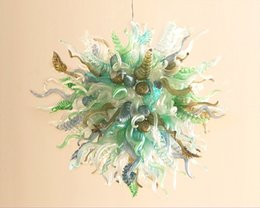 Special Pendants Australia - High Quality Home Interior Lihgt Pendant Special Design Round Shape Dale Chihuly Cheap Small Blown Glass Chandelier Light