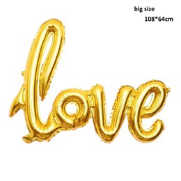 love letter foil helium balloon anniversary bridal shower wedding valentines party bachelorette decoration red gold silver pink
