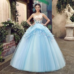 belle cosplay dress Canada - light blue luxury medieval dress rhinestone beading ball gown siss princess Medieval Renaissance Gown queen Cosplay Victorian Belle ball