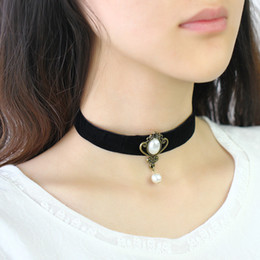 $enCountryForm.capitalKeyWord Canada - 2016 Goth Black Velvet Ribbon Star Imitation Pearl Choker Necklace Gothic Cross Tattoo Sailor Moon Cosplay Women's Jewelry Accessories