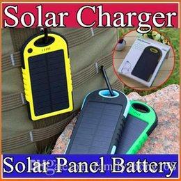 waterproof dustproof shockproof cell phone 2019 - 5000mAh Solar power Charger and Battery Solar Panel waterproof shockproof Dustproof portable power bank for Mobile Cellp