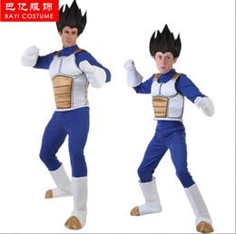 $enCountryForm.capitalKeyWord Canada - kids Japanese Cartoon Anime cosplay Dragon Ball Vegeta Cosplay Costume kids Zentai +Vest + Gloves + Boots fan gift