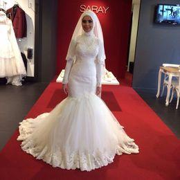 Luxury islamic wedding dresses australia new featured luxury luxury mermaid muslim wedding dresses 2016 new design custom made high neck maxi dubai islamic women wedding bridal dress junglespirit Image collections