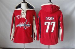a6b69ff34 Washington Capitals 77 TJ Oshie Red Hoodie Lace Up Pullover Hooded  Sweatshirt Top . ...