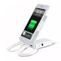 Cell phone retail seCurity online shopping - sold in set mini size white color alloy metal cell phone retail shop alarm and charging security display stand