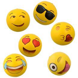 Wholesalers Inflatable Pool Canada - Zorn toys-Emoji Universe: 12 Emoji PVC Inflatable Beach Balls, Inflatable Ball Pool 12 Pack Outdoor Play Beach Toys wholesale 2016 hot