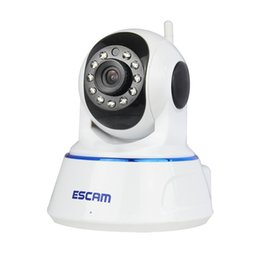 Chinese  Escam QF002 HD 720P IP Camera Night Vision 3.6mm len H.264 1 4 CMOS P2P WIFI IR CCTV Mini Dome Camera manufacturers