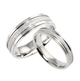 2016 Fashion Simple Retro Design Couple Wedding Ring Bands Classical Stainless Steel Men Women Jewelry Accessory