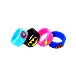 Hero Bands Canada - Wholesale- 4pcs lot Hero Silicone Vape Band Ring Non Slip silicone ring decorative and protection vape rda rba atomizer mechanical mod band