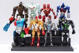China Action Figures 2017 new 8pcs Movie Real Steel Zeus Atom Midas PVC Action Figures Toys Collection 13CM Christmas Gift for children cheap real steel figures suppliers