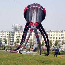 $enCountryForm.capitalKeyWord Canada - NEW 3D 26m Capricorn black octopus kite 1 Line Stunt Parafoil Sport outdoor toys