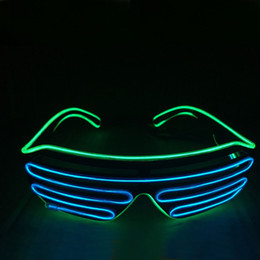 $enCountryForm.capitalKeyWord NZ - Green-Blue Color New LED Wire neon Glasses for Christmas Birthday Halloween Neon Party Costume Party Decoration Supplies Fashionable Glass