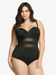 Großhandel Große Größe der reizvollen tiefen Streifen schwimmen tragen weiß schwarz plus size Badebekleidung Übergröße weiblichen Badeanzug Frauen Schwimmanzug