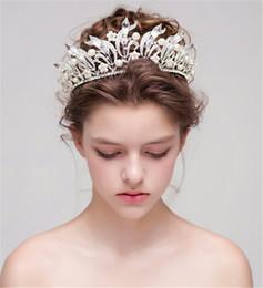 $enCountryForm.capitalKeyWord Australia - Vintage Wedding Bridal Crystal Rhinestone Headband Headpiece Crown Tiara Hair Accessories Princess Queen Headdress Jewelry Pearl Silver Band
