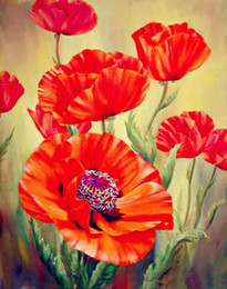 Discount painting poppy flowers painting poppy flowers 2018 on painting poppy flowers 2018 poppies flowers picture needlework full diamond manual diamond mosaic cross stitch mightylinksfo