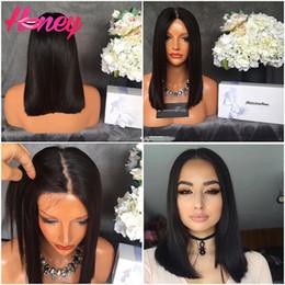 $enCountryForm.capitalKeyWord Canada - Glueless Full Lace Human Hair Bob Wigs For Black Women Brazilian Virgin Hair Straight Short Bob Lace Front Bob Cut Wigs