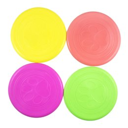 Pet Plastic frisbee online shopping - Fantastic Pet Dog Flying Disc Tooth Resistant Training Toy Play Frisbee Tide Dogs Training Tool Silicone Frisbee jy J