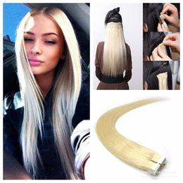 Discount tape quality hair extension - Top quality 2.5g pc,40pcs bag Glue Skin Weft PU Tape in Human Hair Extensions 14-24 inch Virgin Indian hair extension
