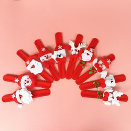 plastic pat Canada - Christmas Decorations Christmas Patting Circle Christmas Children Gift Santa Claus Snowman Deer New Year Party Toys TT205