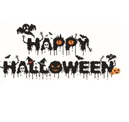 $enCountryForm.capitalKeyWord UK - 1027 Halloween Festival Crow Little Devil Wall Stickers Ghost Pumpkin Happy Halloween Quote Wall Decals Home Decor For Living Room