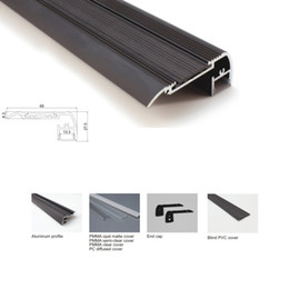$enCountryForm.capitalKeyWord NZ - 100 X 1M sets lot stair step led aluminum profile channel and flat aluminum extrusion profile for stairway or ladder led lights