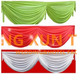 Wholesale Ice Silk Swag Drape Only Can Fir Table Skirt Backdrop Curtain And Other Wedding Decoration